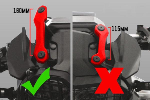 Polohovací nástavec předního skla na motorky BMW
