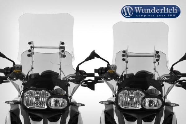 Čelní sklo Wunderlich TOURING VARIO pro motorky BMW F 800 GS kouřově šedé