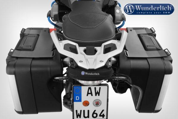 Držák zavazadel Wunderlich sada pro originální boční VARIO kufry černý na motorky BMW R 1200 GS LC a R 1250 GS