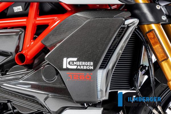 Kryt chladiče pravý z karbonu lesklý na motocykly DUCATI Diavel 1260 od 2019