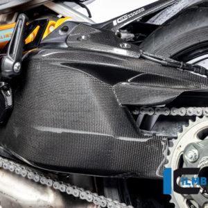 Kryt kyvné vidlice včetně horního krytu řetězu z karbonu lesklý na motocykly DUCATI Diavel 1260 od 2019