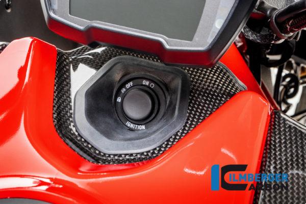 Kryt spínací skříňky z karbonu lesklý na motocykly DUCATI Diavel 1260 od 2019