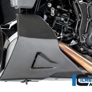 Spoiler motoru levý z karbonu lesklý na motocykly DUCATI Diavel 1260 od 2019