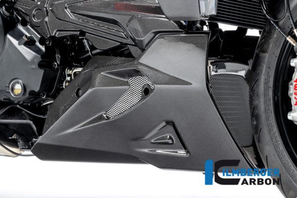 Spoiler motoru pravý z karbonu lesklý na motocykly DUCATI Diavel 1260 od 2019